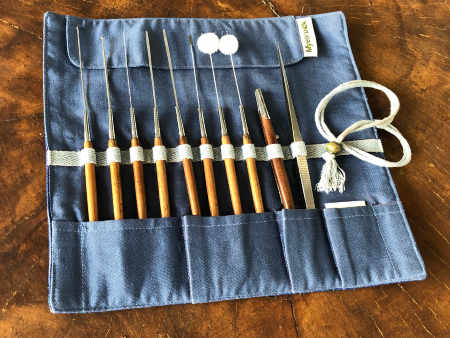 10 piece Earpick Tools in Roll Case
